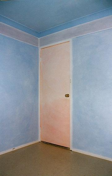 Bedroom, Inala Centre, lazured walls