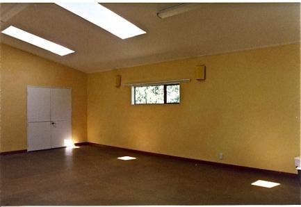 Te Ra School Hall, Raumati South, Kapiti, NZ, lazured walls
