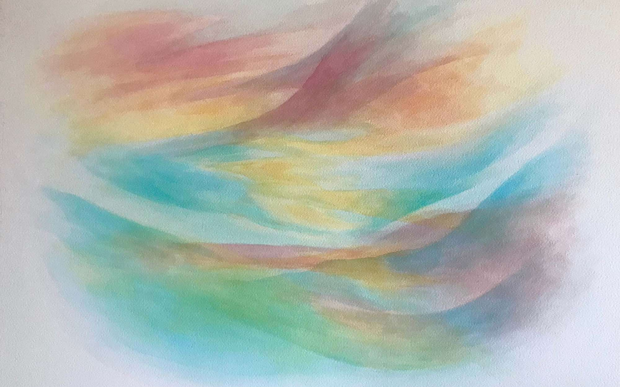 watercolour painting of imagination after a Rilke poem